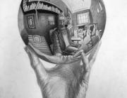 m.c.escher,에셔,pencil,drawing,기초드로잉,foundation,파운데이션,유학미술,미술유학,포트폴리오,카이아